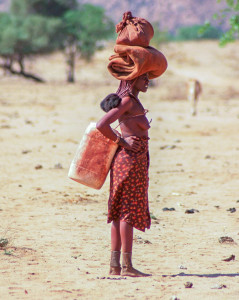 Himba Woman on way to Water hole