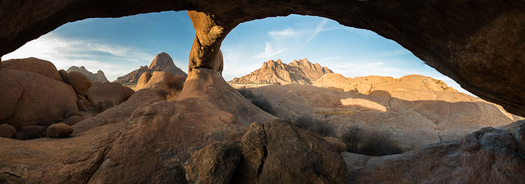 Panorama of The Bridge at Spitzkoppe in Namibia