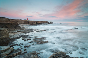 Souter Lighthouse and Arch at Lizard Point from point South of