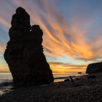 Sunrise at Chemical Beach Seaham with Liddle Stack