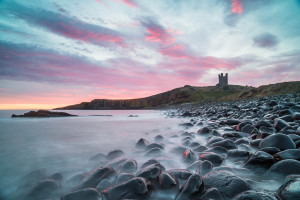 Sunrise at Dunstanburgh Castle, Northumberland