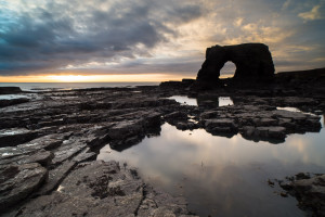 Arch at Lizard Point below Souter Lighthouse, Whitburn