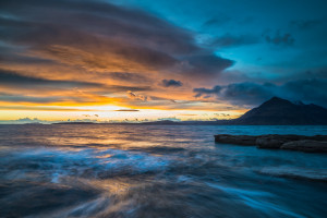 Sunset at Elgol in Skye