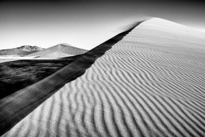Dune 45 in Sossusvlei Namibia in a style of Sebastiao Salgado by Ian Purves 1983