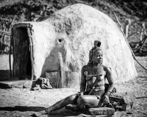 Himba Woman and Hut