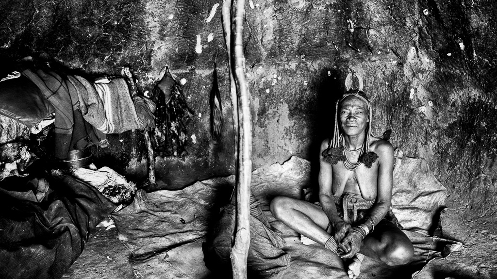 Himba Woman in Hut