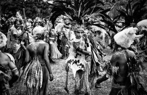 Papua New Guinea Bride in a style of Sebastiao Salgado by Ian Purves 1983