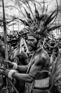 Papua New Guinea Man in a style of Sebastiao Salgado by Ian Purves 1983