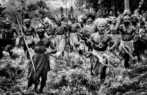 Papua New Guinea 'War' in a style of Sebastiao Salgado by Ian Purves 1983