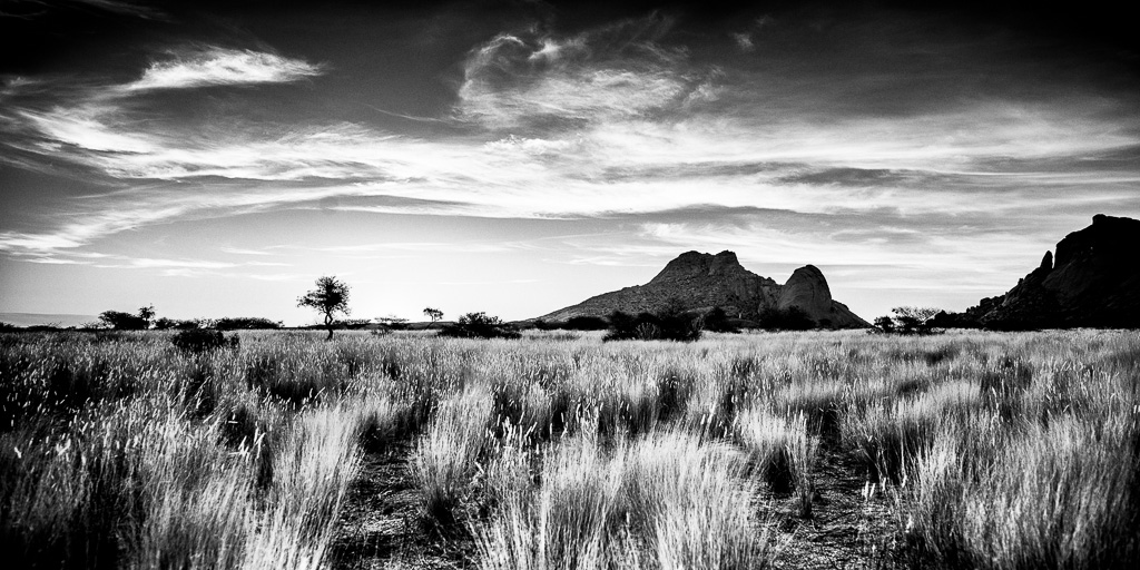 Sunset at Spitzkoppe in Namibia