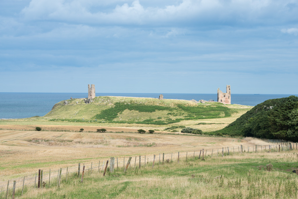 Dunstanburgh Castle, Northumberland from the West