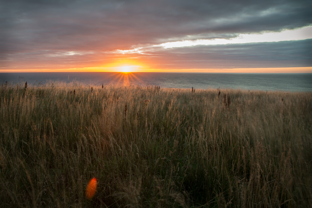 Sunrise at Dunstanburgh Castle Northumberland